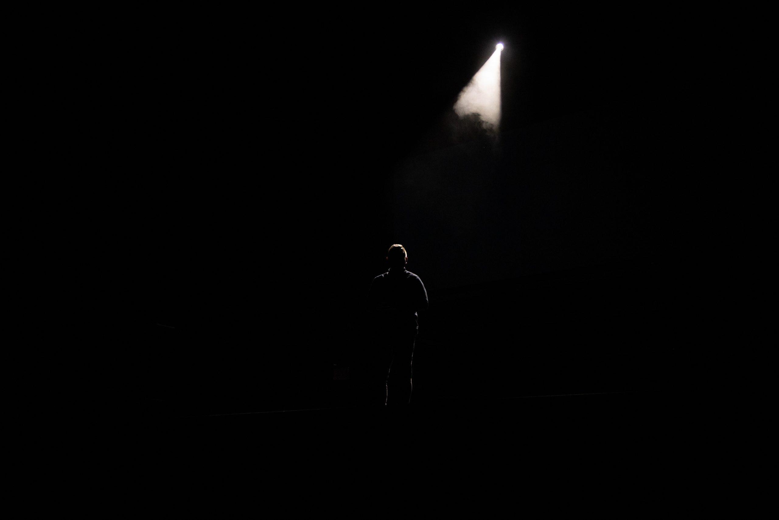 spotlight on man