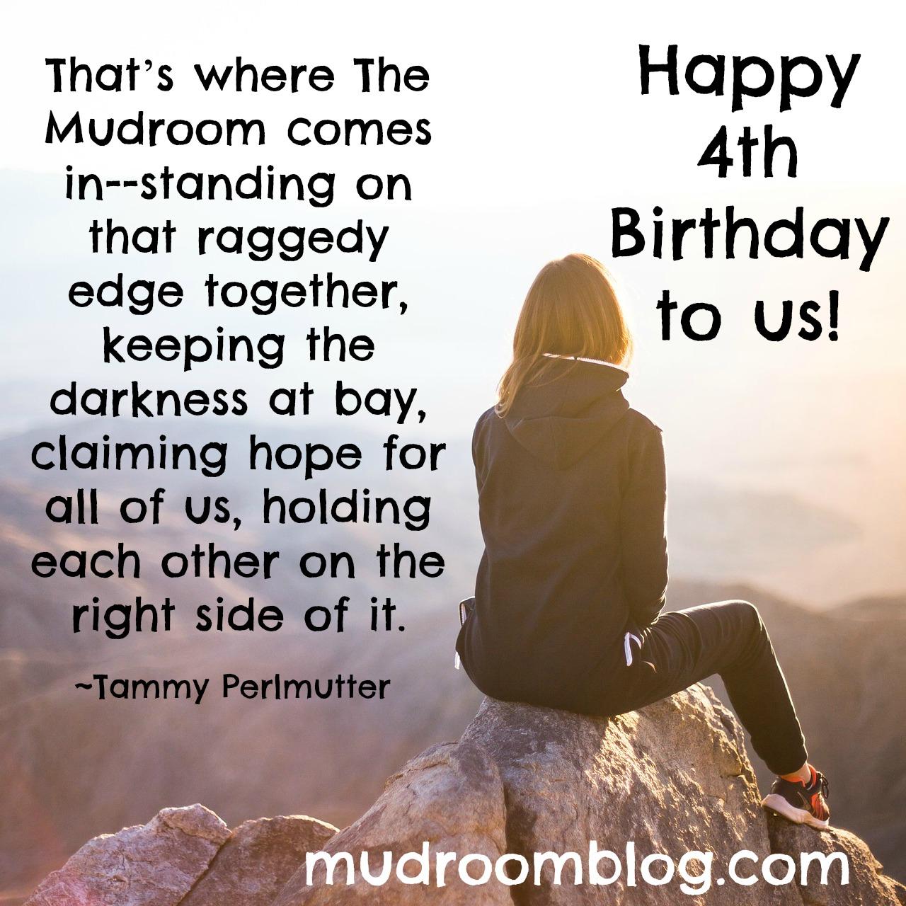 Mudroom's 4th Birthday