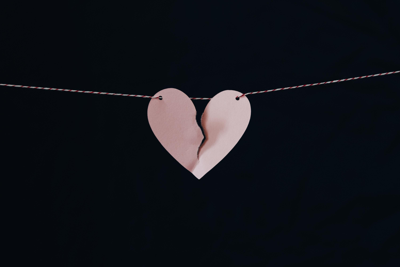 broken heart on a wire
